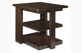 Garletti Dark Brown Rectangular End Table