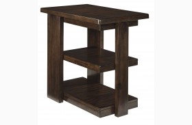 Garletti Dark Brown Chair Side End Table