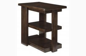 Garletti Dark Brown Chair Side End Table