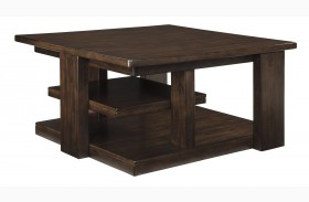 Garletti Dark Brown Square Cocktail Table