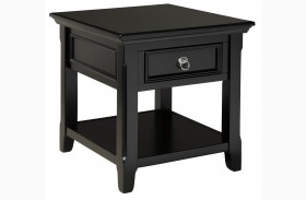 Greensburg Black Rectangular End Table