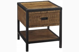 Kalean Two-Tone Rectangular End Table