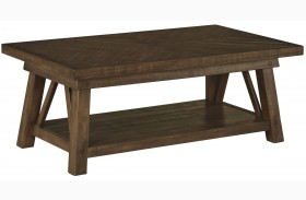 Dondie Rustic Brown Rectangular Cocktail Table