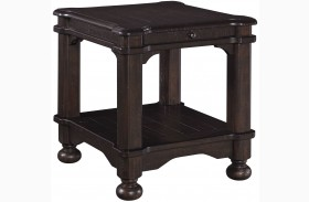 Gerlane Rustic Brown Rectangular End Table