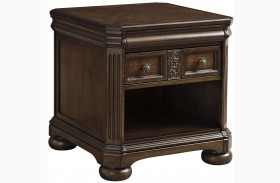 Lamonte Brown Rectangular End Table
