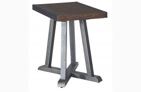 Zenfield Medium Brown Chair Side End Table