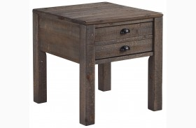 Keeblen Grayish Brown Rectangular End Table