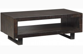 Parlone Deep Brown Rectangular Cocktail Table