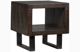 Parlone Deep Brown Rectangular End Table