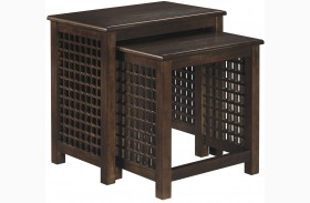 Roxenton Brown Nesting End Tables Set of 2