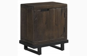 Vendol Brown/Black Rectangular End Table
