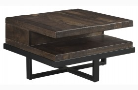 Vendol Brown/Black Square Cocktail Table
