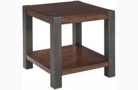 Heidiho Light Brown Square End Table