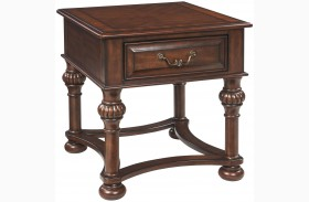 Beisterfield Brown Rectangular End Table
