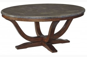 Balinder Medium Brown Oval Cocktail Table