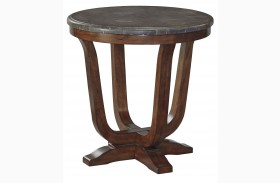 Balinder Medium Brown Round End Table