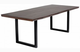 Dixon Dark Brown And Black Rectangular Dining Table