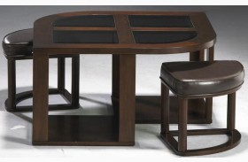Merlot Cocktail Table With Stools