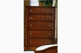 The Cottage Collection Cherry 5 Drawer Chest