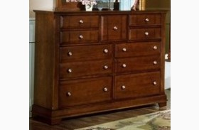 The Cottage Collection Cherry 9 Drawer Triple Dresser