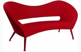 Tiffany Red Fabric Loveseat