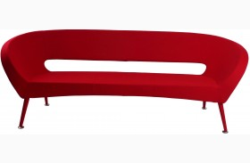 Tiffany Red Fabric Sofa