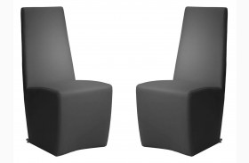 Ritz Tobi Graphite Synthetic Leather Dining Chair Set of 2