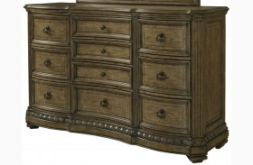 Touraine French Glazed Pecan Dresser