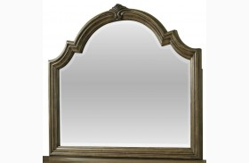 Touraine French Glazed Pecan Mirror
