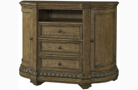 Touraine French Glazed Pecan Media Chest