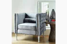 Bryn Gray Velvet Chair