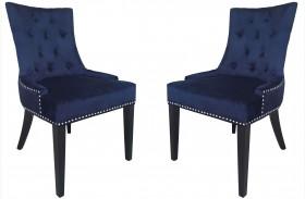 Uptown Navy Velvet Dining Chair Set of 2