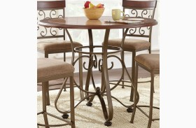 Thompson Warm Cherry Round Counter Height Dining Table