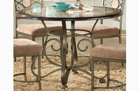 Thompson Warm Cherry Round Dining Table