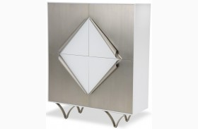 Trance Matrix White Display Cabinet