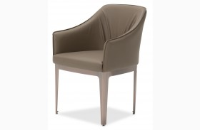 Trance Brown Sloped Arms Upholstered Dining Chair