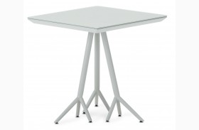 Trance Soho White Square End Table