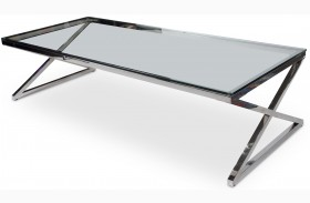 Trance Stacy Silver Rectangular Cocktail Table