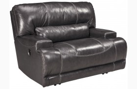 Mccaskill Gray Wide Seat Power Recliner