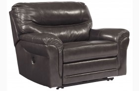 Banetonville Metal Wide Seat Power Recliner
