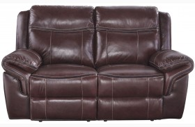 Zephen Mahogany Reclining Power Reclining Loveseat