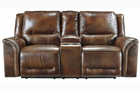 Jayron Harness Double Reclining Power Loveseat With Console