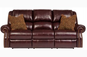 Walworth Blackcherry Power Reclining Sofa