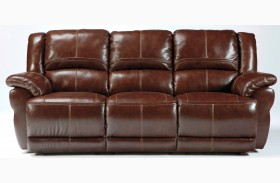 Lenoris Coffee Power Reclining Sofa