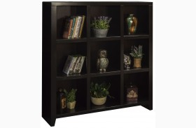 Urban Loft Mocha 9 Cubicle Bookcase