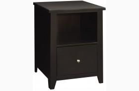 Urban Loft Mocha One Drawer File Cabinet