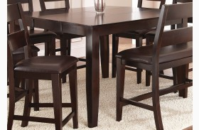 Victoria Dark Espresso Extendable Rectangular Counter Height Table