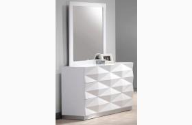 Verona White Lacquer Dresser & Mirror