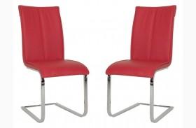 Regis Vita Red Dining Chair Set of 2
