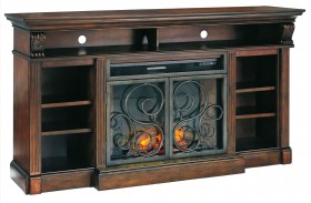 Alymere Extra Large TV Stand With Fireplace Insert
